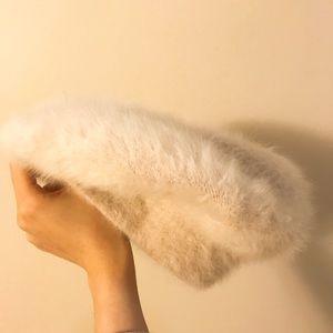 Angora rabbit fur beret from Japan